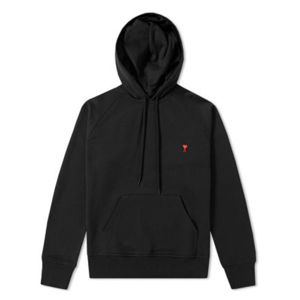 AMI x END. Heart Logo Hoody  Black