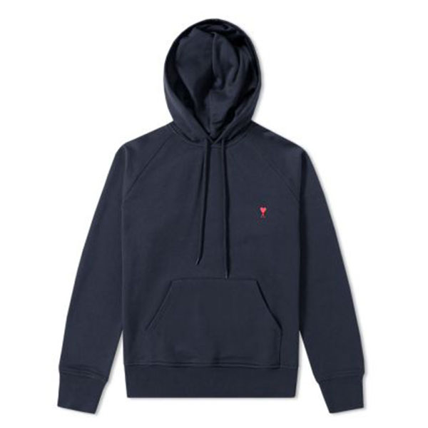 AMI x END. Heart Logo Hoody  Navy