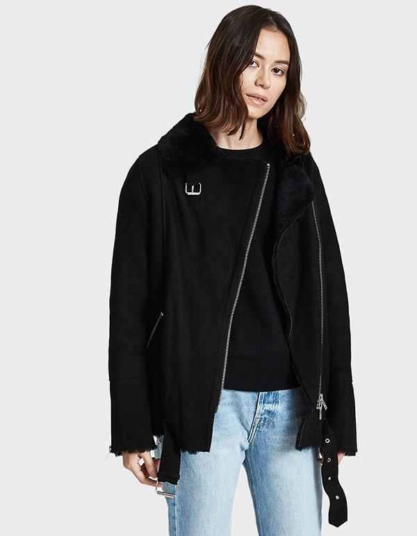 JUST FEMALE Chin Shearling Jacket