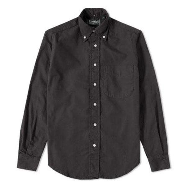 Gitman Vintage x END. Overdyed Oxford Shirt  Charcoal