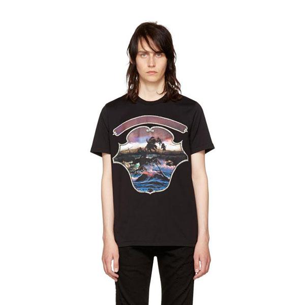 Givenchy Black Dark Hawaii T-Shirt