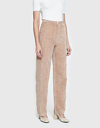 High Waisted Pants in Smoked Pink