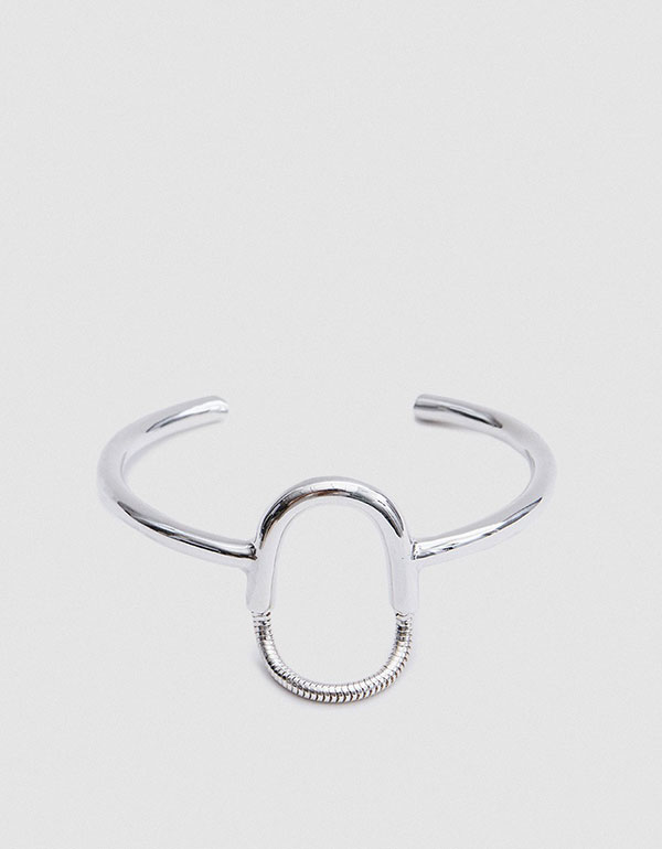 PAMELA LOVE Jetty Cuff In Sterling Silver
