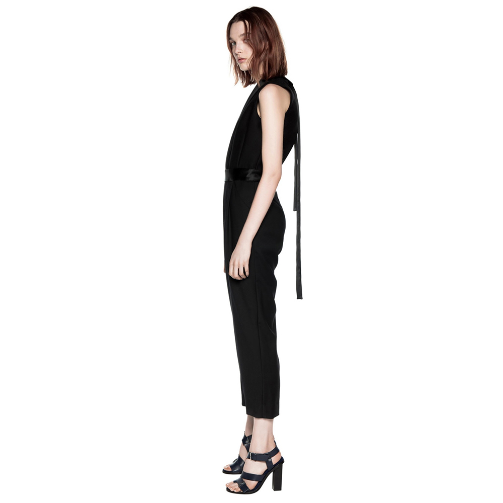 DION LEE Evening Lapel Tie Jumpsuit