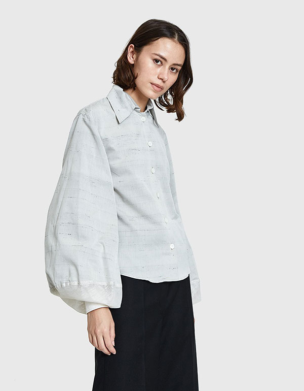 LEMAIRE Large Sleeve Shirt In Pearl Grey