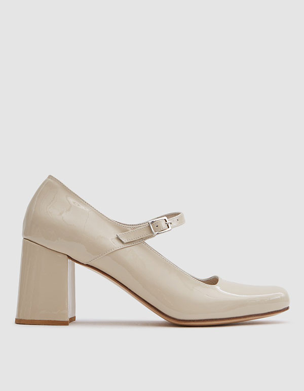 Mary-jane In Beige Patent