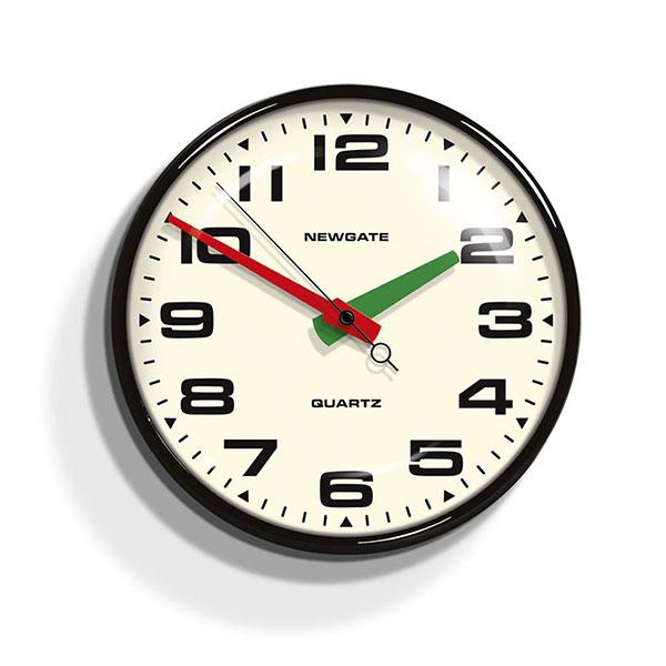 NEWGATE CLOCKS Brixton Clock – Black