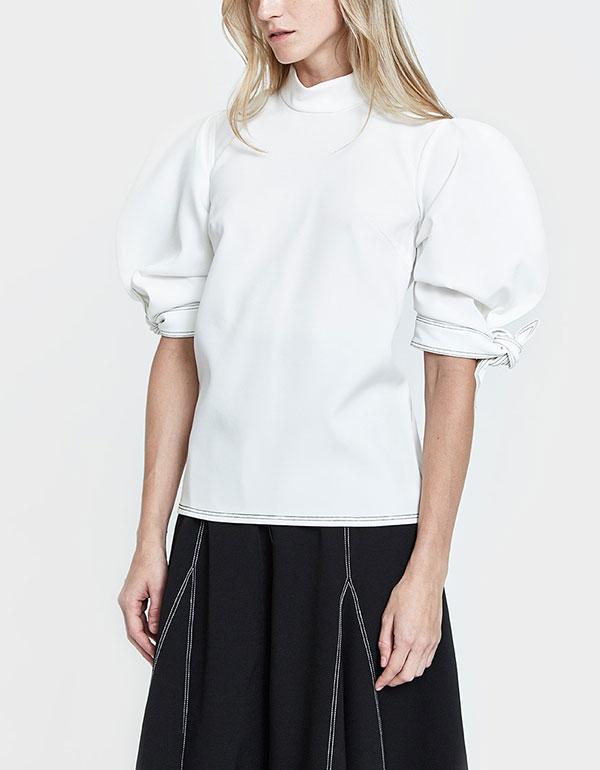 Rose Top In White Tencel