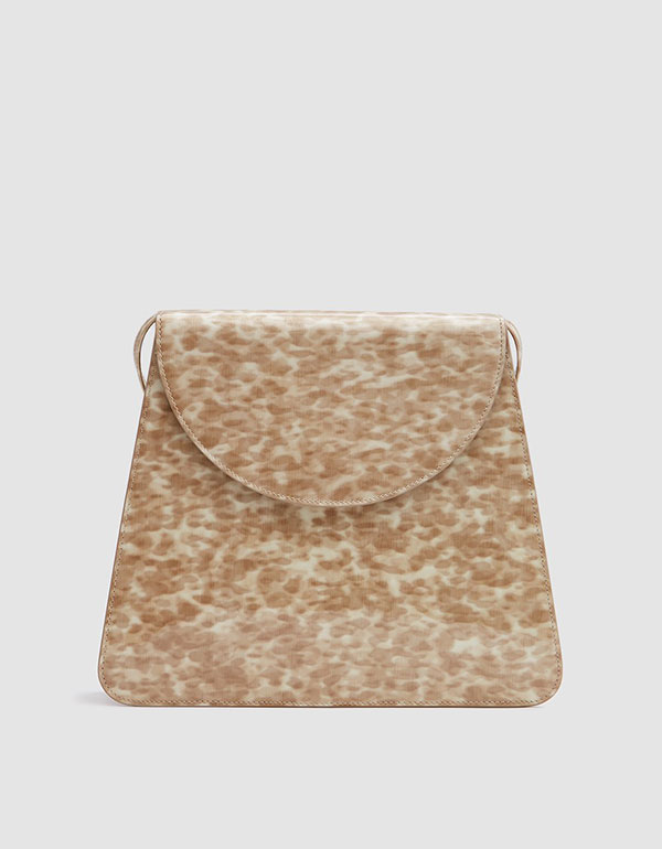Sophie Bag In Patent Blonde Tortoise