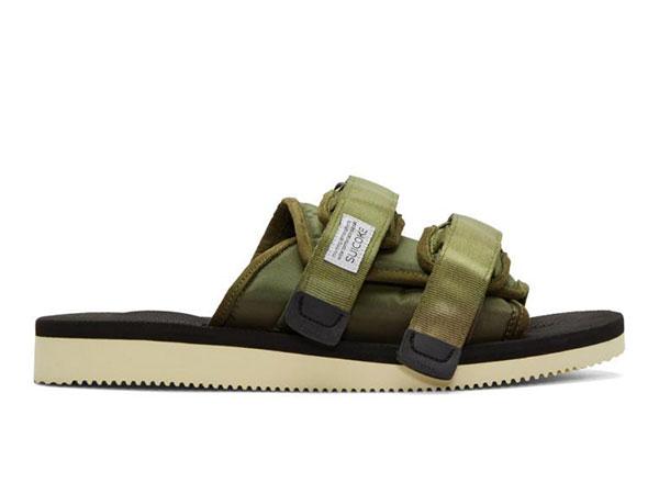 Suicoke Green Moto Sandals