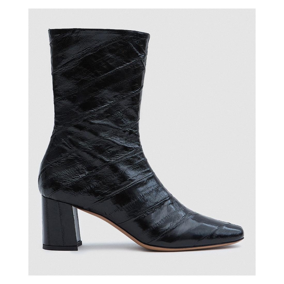 TRADEMARK Mira Eel Skin Boot in Black