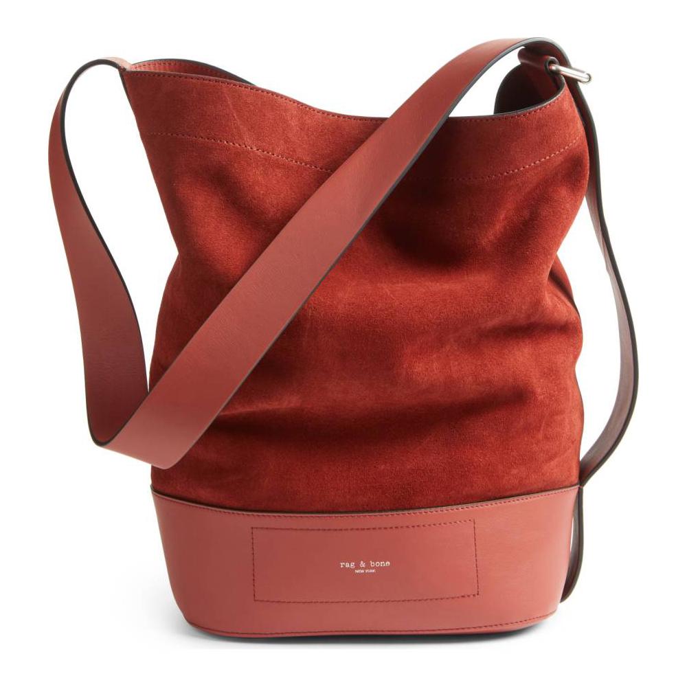 RAG & BONE Walker Sling Leather & Suede Bucket Bag