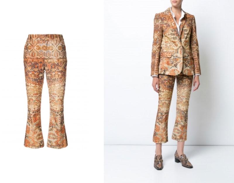 Persian Flared Crop Pants