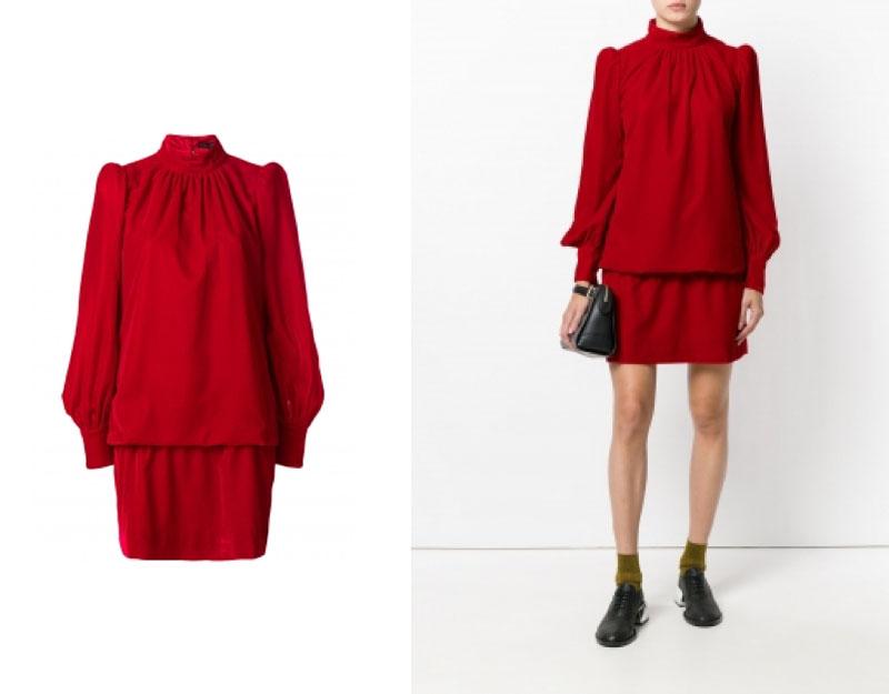 Popover Velvet Dress