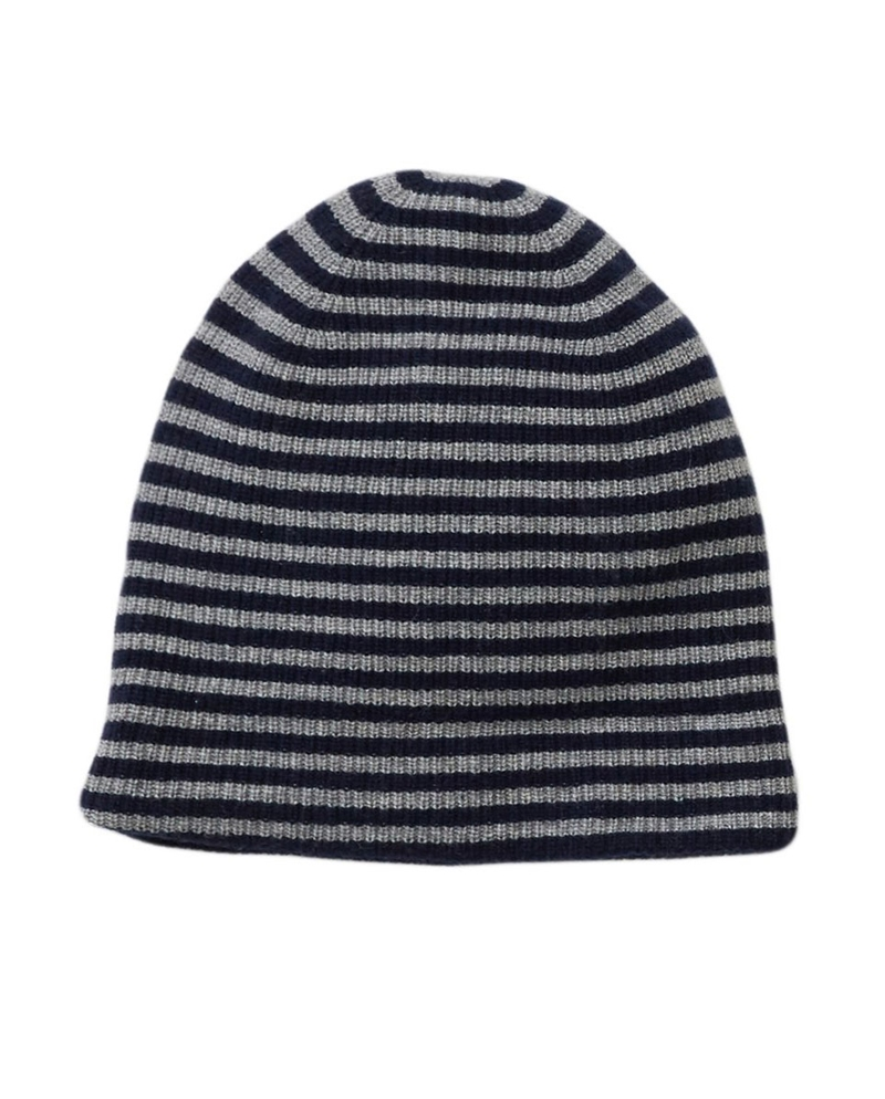ALEX MILL Cashmere Mini Stripe Beanie