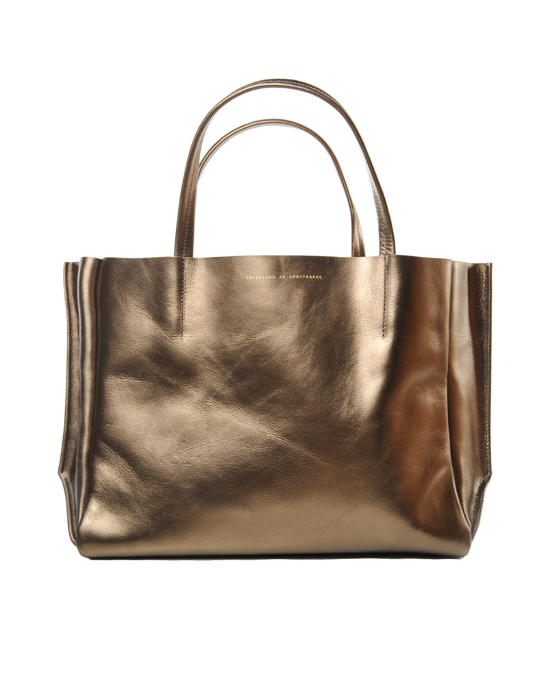 AMPERSAND AS APOSTROPHE Metallic Sideways Tote