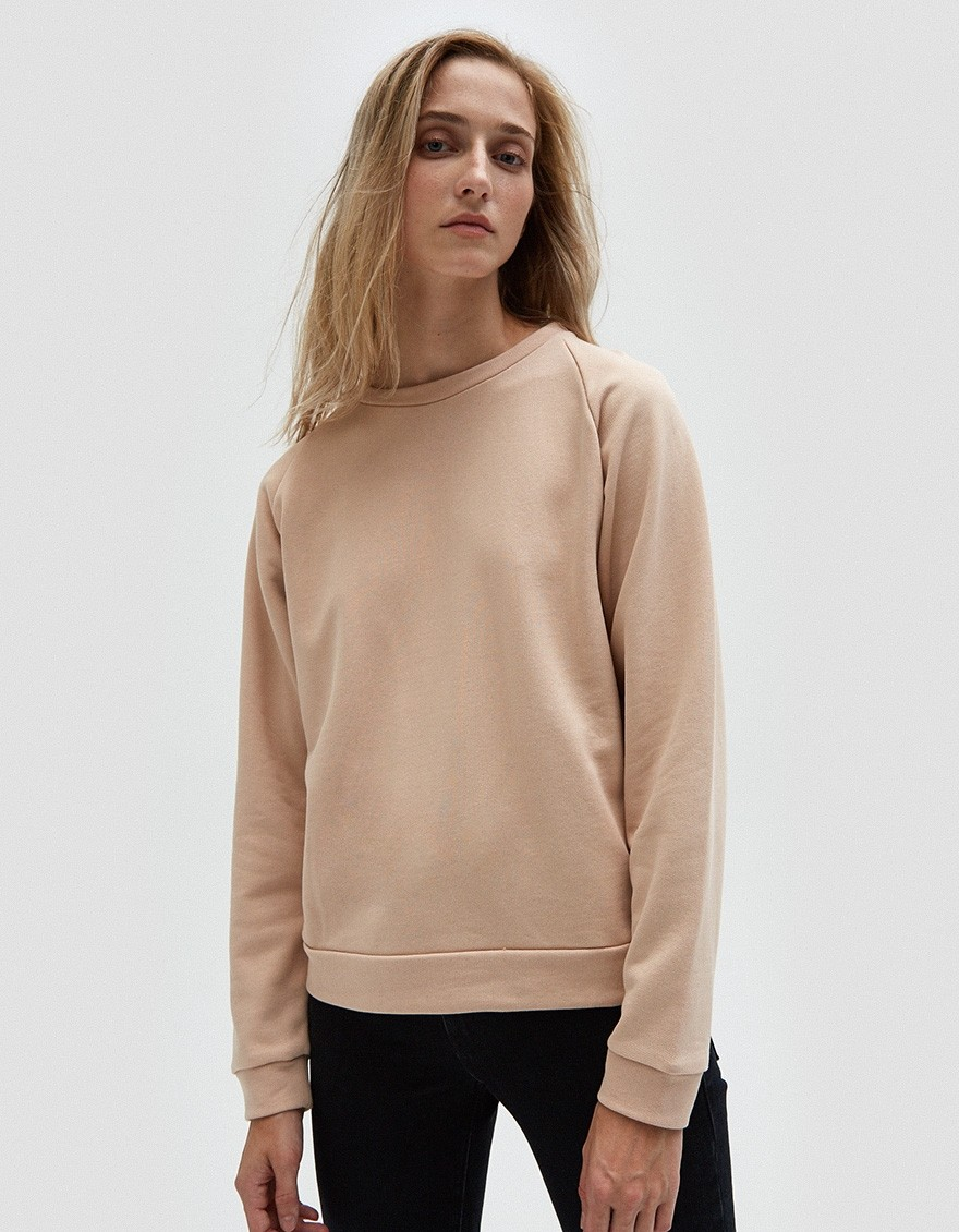 BASERANGE Basic Sweat in Nude