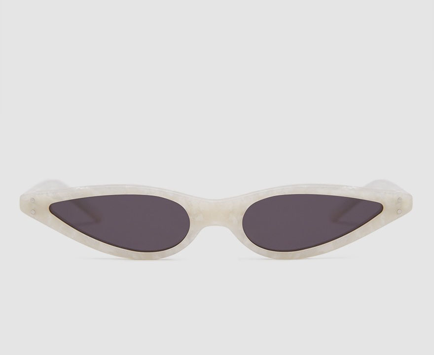GEORGE KEBURIA Sunglasses in Pearl White