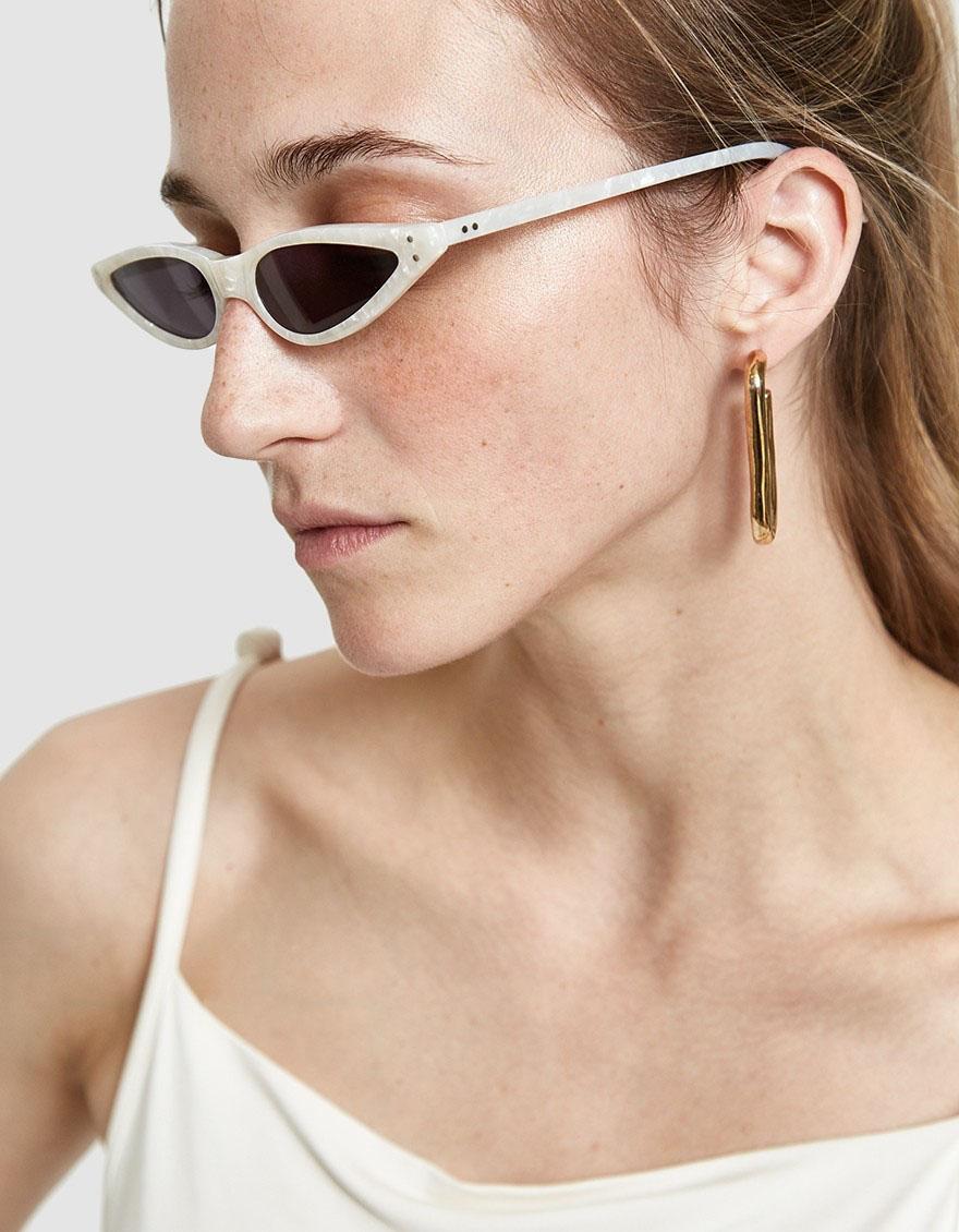 GEORGE KEBURIA Sunglasses in Pearl White