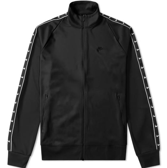 NIKE TAPED TRACK JACKET BLACK & WHITE