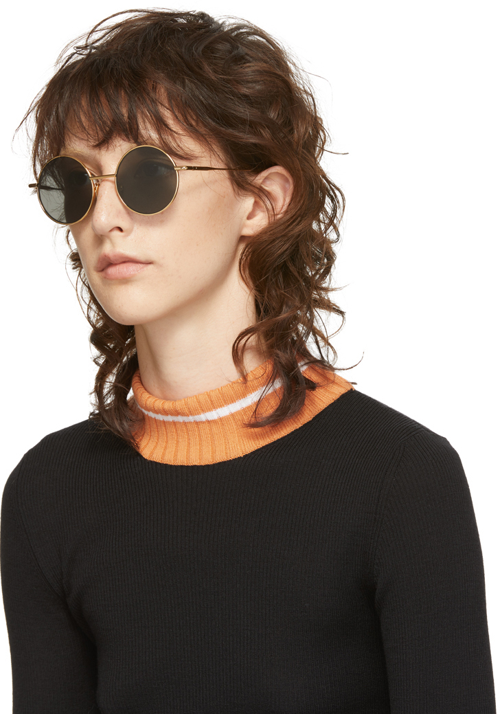 ACNE STUDIOS Gold & Black Scientist Sunglasses