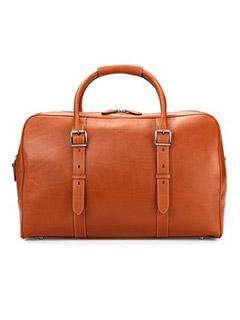 Large Harrison Weekender Travel Bag In Smooth Tan