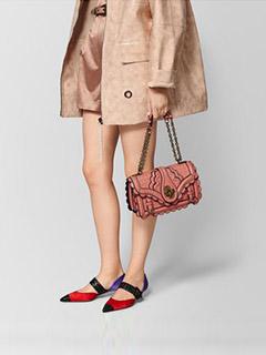 Hibiscus Intrecciato Wingtip City Knot Bag