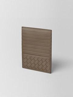 Limestone Intrecciato Nappa Card Case