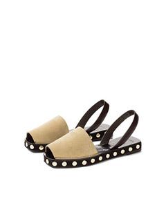 Slingback Sandal Studs Gold