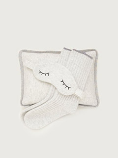 Sleepy Cashmere Gift Set In Pale Gray