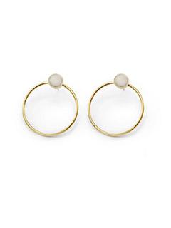 Mari Dot Hoop Stud Earrings