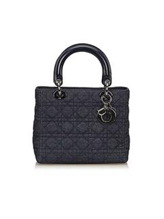 Lady Dior Denim Cannage Handbag