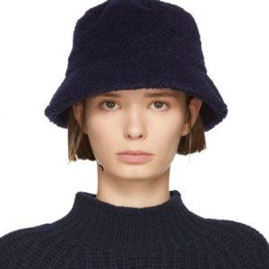 YMC Navy Fleece Bucket Hat