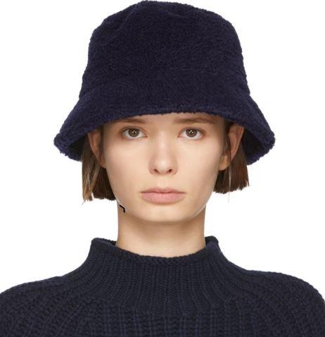YMC Navy Fleece Bucket Hat - ShopPulp 51ece75b741