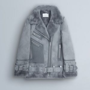 THE ARRIVALS Moya III LMTD Oversized Shearling – Washed Gray