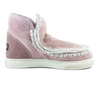 MOU Eskimo Sneaker In Antique Pink Sheepskin