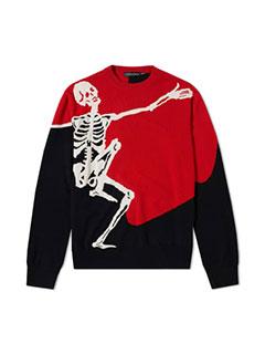 Alexander McQueen Dancing Skeleton Crew Knit