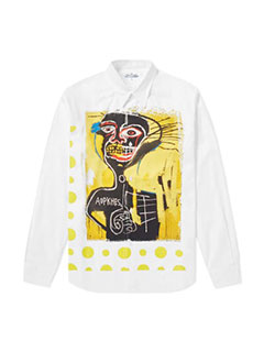 Comme Des Garcons Shirt X Jean-michel Basquiat Herringbone Shirt