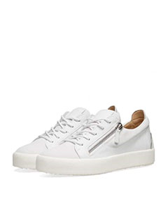 Giuseppe Zanotti Double Zip Nubuck Heel Logo Sneaker