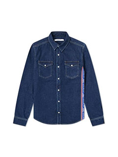 Givenchy Logo Taping Denim Shirt