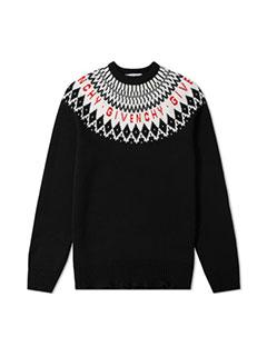 Givenchy Merino Fair Isle Logo Knit