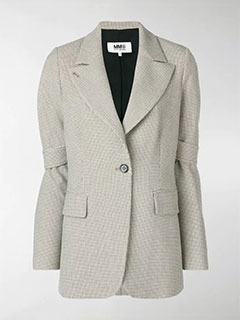 Check Tailored Fitted Blazer