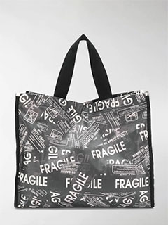 Fragile Print Tote