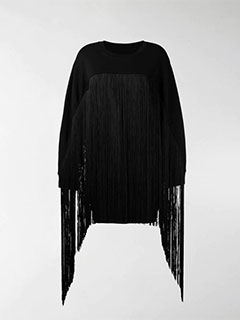 Fringed Oversized Sweater