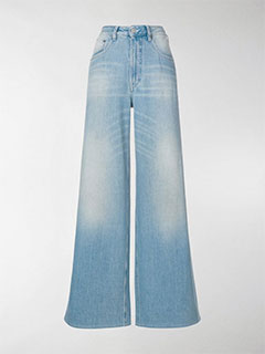 Light Wash Wide-Leg Jeans