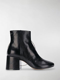 Ring-Detail Ankle Boots