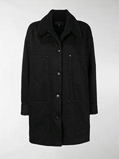 Shearling Collar Denim Coat