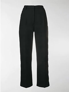 Snap Fastened Tailored Trousers