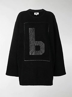 Tonal Logo Oversized Sweater