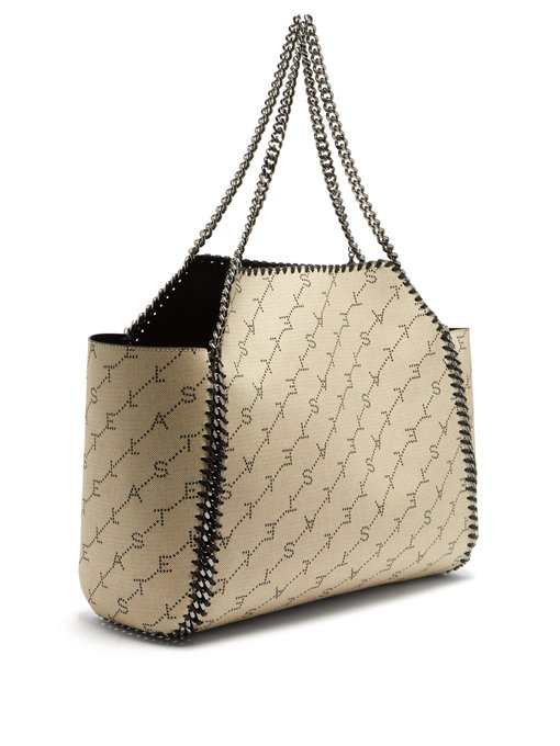 STELLA MCCARTNEY Falabella logo-canvas tote